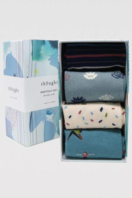 Thought dárkové balení dámských ponožek mornie yogi
