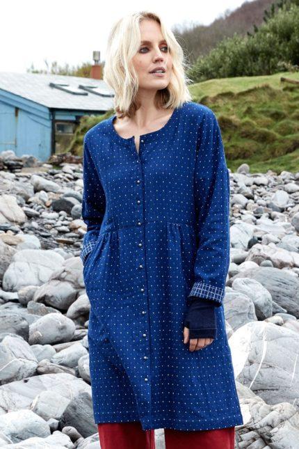 Nomads tunikové košilové šaty indigo