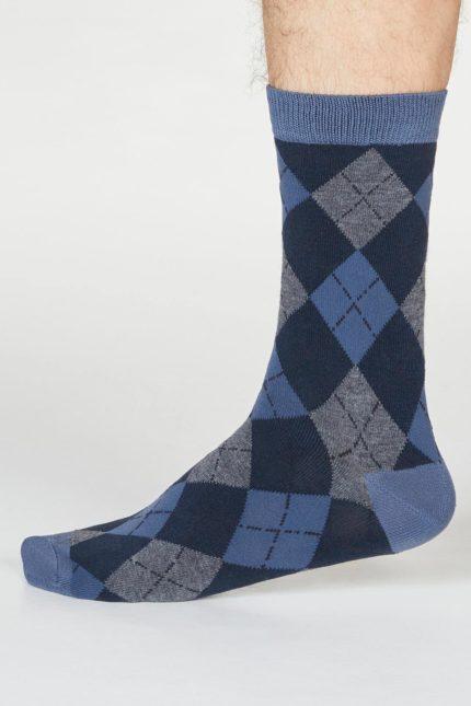 Thought pánské bambusové ponožky philip argyll modré