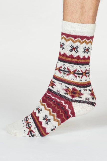 Thought pánské vlněné ponožky hendry krémové