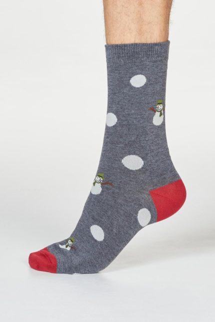 Thought pánské ponožky markus snowman šedé