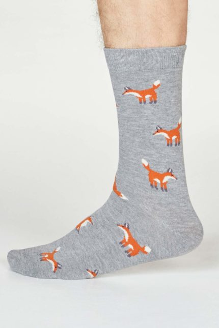 Thought pánské bambusové ponožky syd fox šedé
