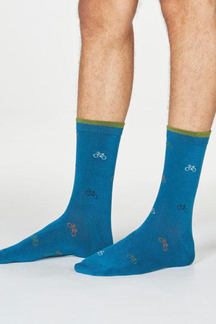 Thought pánské bambusové ponožky fergus bicycle ink