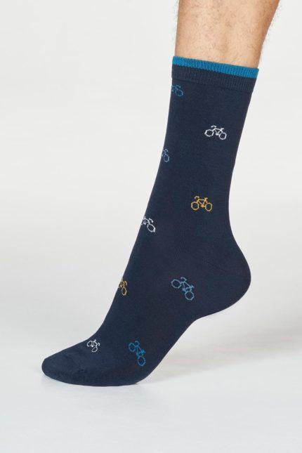 Thought pánské bambusové ponožky fergus bicycle navy