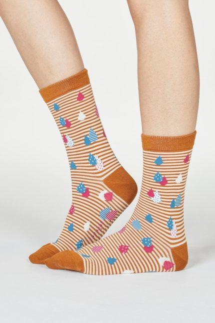 Thought dámské bambusové ponožky juliette oranžové