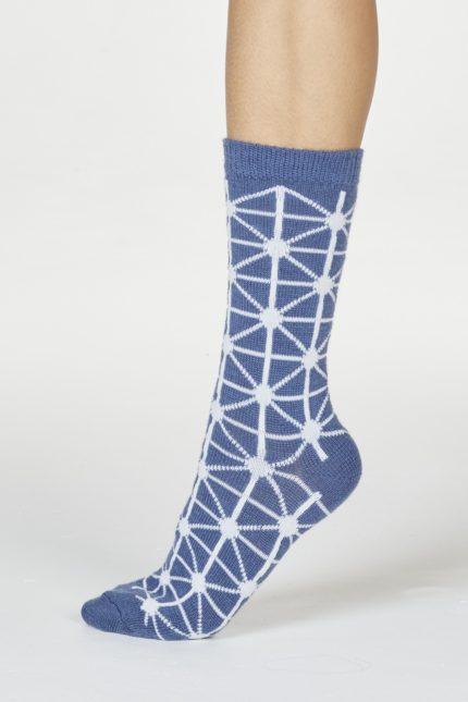 Thought dámské vlněné ponožky jannie modré