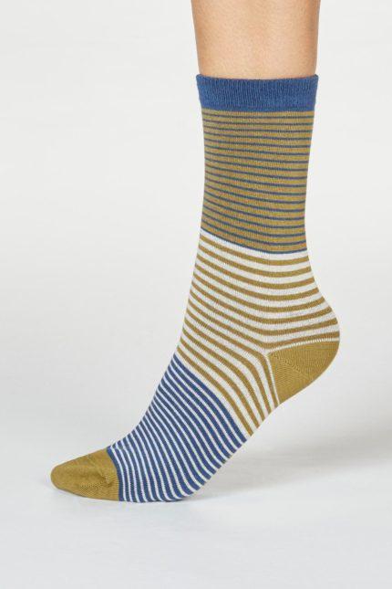 Thought dámské bambusové ponožky katleen modrozelené