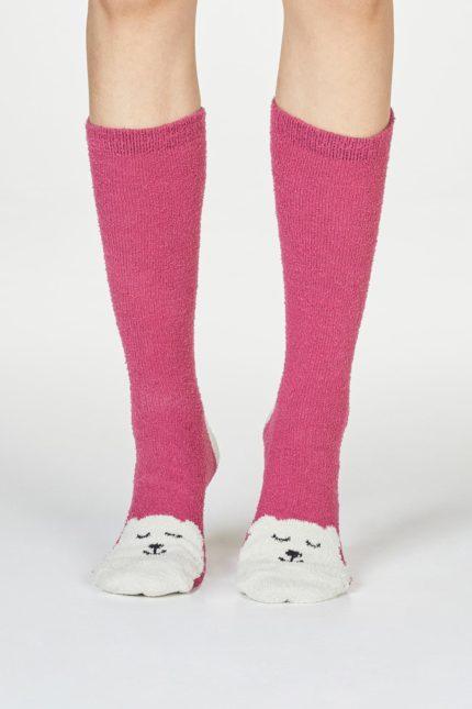 Thought dámské vánoční ponožky ella červené