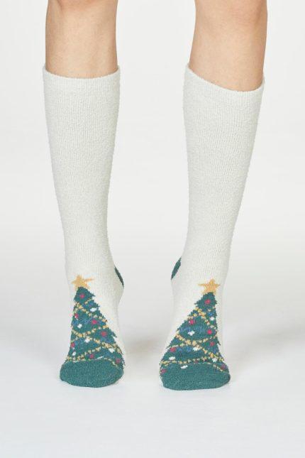Thought dámské vánoční ponožky ella krémové