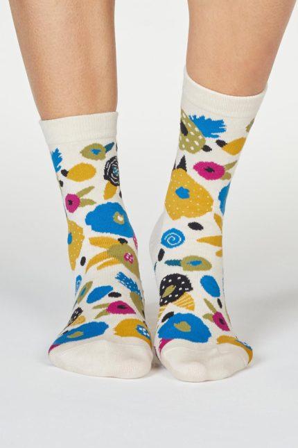 Thought dámské bambusové ponožky viola paintbrush
