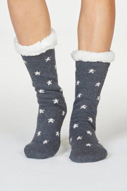 Thought dámské huňaté ponožky brittany šedé