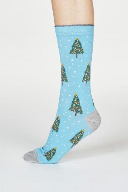 Thought dámské ponožky diana tree modré