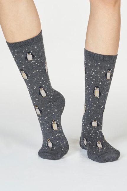 Thought dámské bambusové ponožky dona penguin tm. šedé