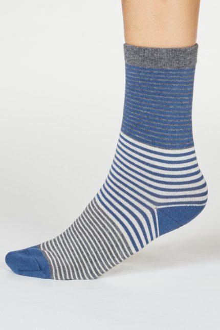 Thought dámské bambusové ponožky katleen modré
