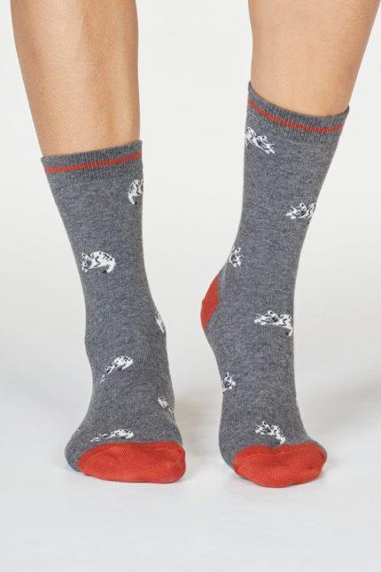 Thought dámské bambusové ponožky lula cat šedé