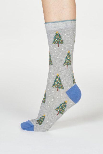 Thought dámské ponožky diana tree sv. šedé