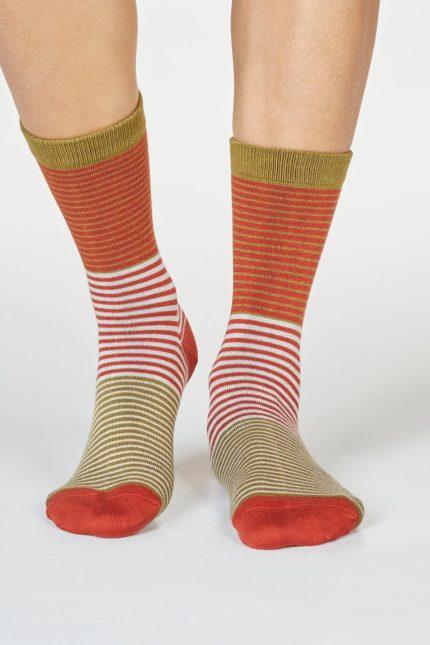 Thought dámské bambusové ponožky katleen oranžové