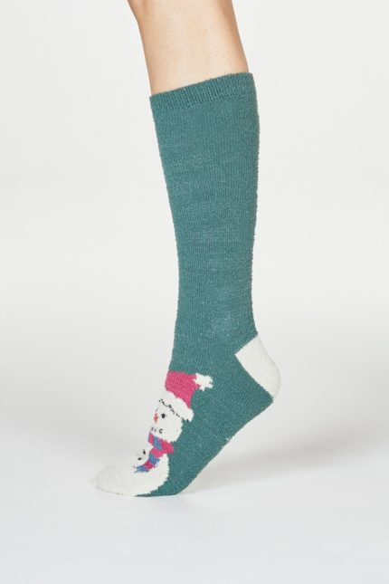 Thought dámské vánoční ponožky ella zelené