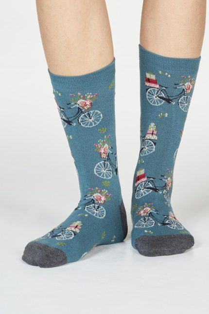 Thought dámské bambusové ponožky helen bike zelené