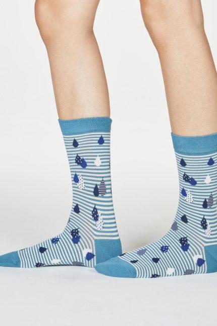 Thought dámské bambusové ponožky juliette modré
