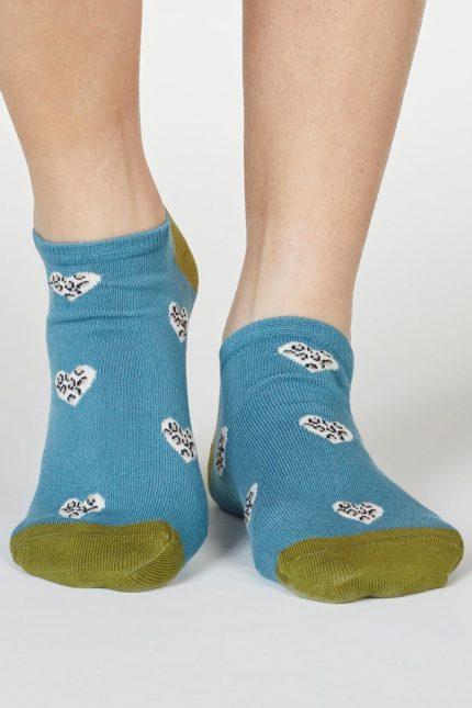 Thought dámské bambusové ponožky lily modré