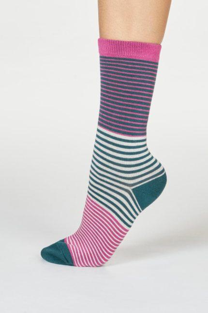 Thought dámské bambusové ponožky katleen růžové