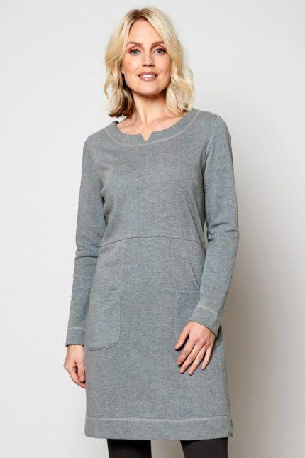 Nomads tunikové šaty silver z bio bavlny