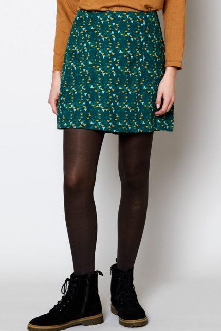 Nomads manšestrová mini sukně fern
