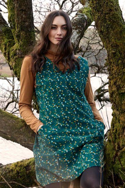 Nomads tunikové šaty pinafore fern