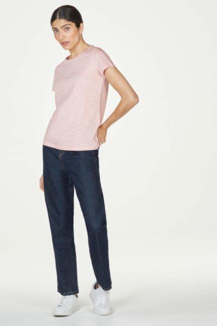 Thought basic tričko z bio bavlny ballet pink