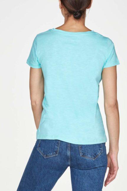 Thought basic tričko z bio bavlny jade green