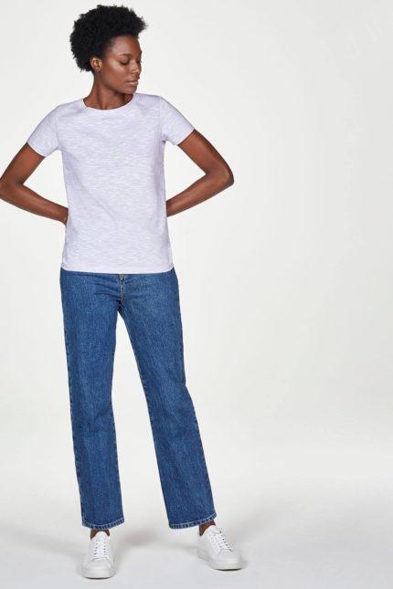 Thought basic tričko z bio bavlny lilac