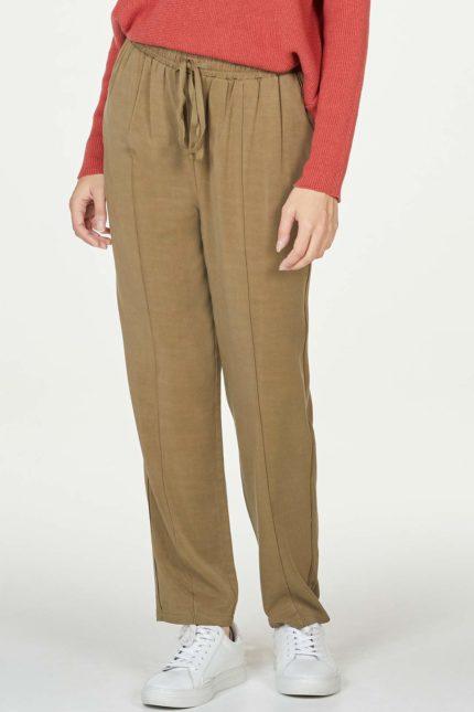 Thought kalhoty luella hnědé s bambusem