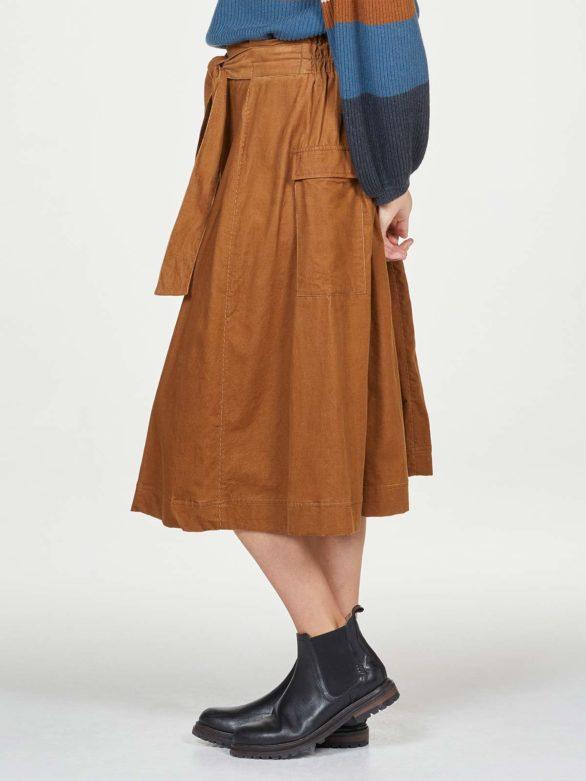 Thought manšestrová sukně poppie z bio bavlny