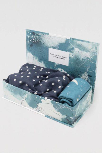 Thought dárkové balení ponožek a relaxačního polštářku marniba