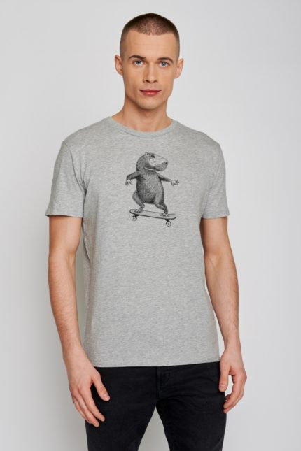 Greenbomb tričko animal capy šedé