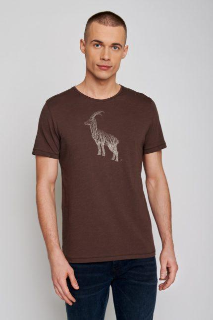 Greenbomb tričko animal ram hnědé