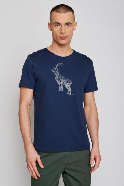 Greenbomb tričko animal ram modré