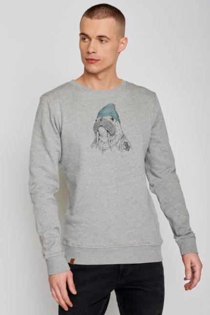 Greenbomb mikina animal walrus šedá