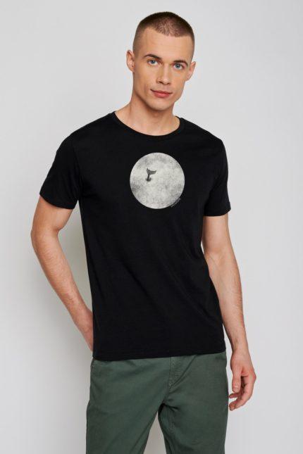 Greenbomb tričko animal whale černé