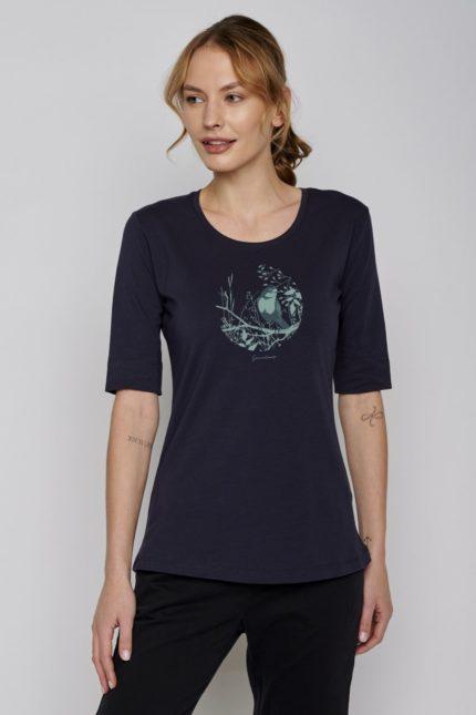 Greenbomb tričko bird circle modré