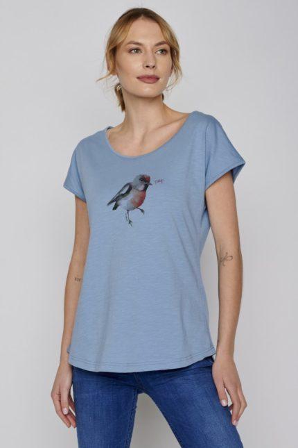 Greenbomb tričko bird peep modré