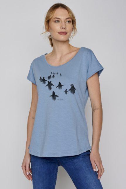 Greenbomb tričko penguin walk modré
