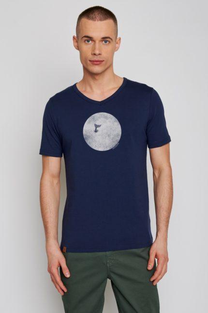 Greenbomb tričko animal whale modré