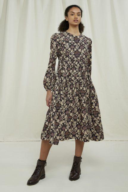 People Tree tencelové šaty celandine v&a