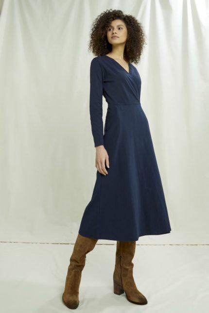 People Tree midi šaty millefleur v&a z bio bavlny
