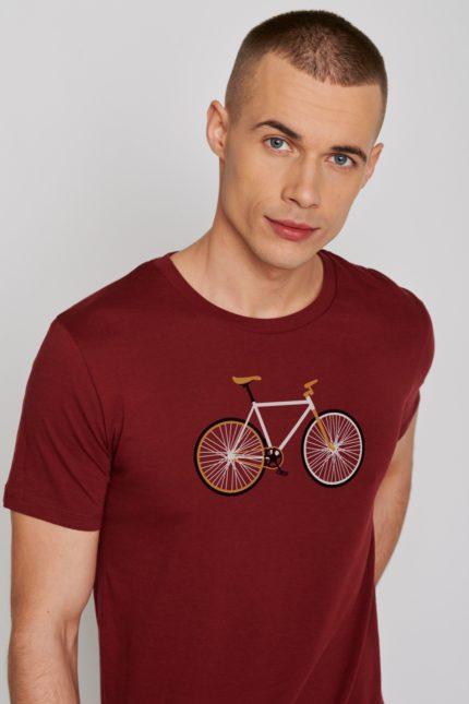 Greenbomb tričko bike easy bordó