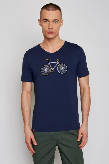 Greenbomb tričko bike easy modré