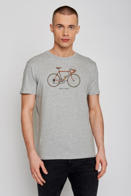 Greenbomb tričko bike 51 šedé