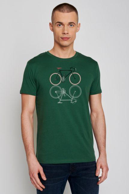 Greenbomb tričko bike shape zelené